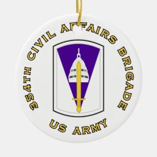 354th Civil Affairs Brigade Ceramic Ornament