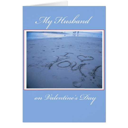3551 Husband Valentine's Day Sand Card