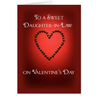 3559 Daughter-in-Law Valentine Chocolate Heart Card