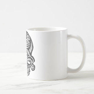 355 Tribal Skull Classic White Coffee Mug