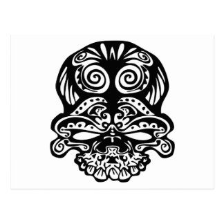 355 Tribal Skull Postcard