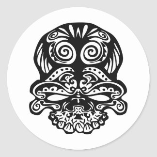 355 Tribal Skull Stickers