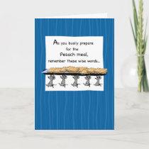 3567 Passover Matzoh Mice, Humorous Card