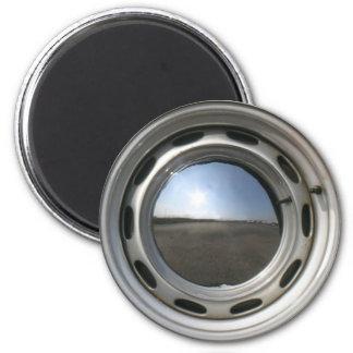 356 Classic car wheel rim with chrome hubcap Magnets