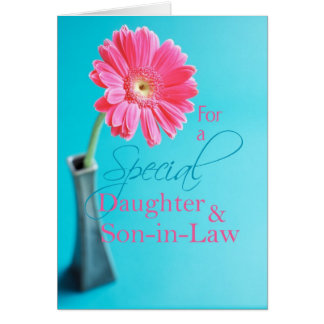 3575 Daughter & Son-in-Law Valentine Pink Daisy Card