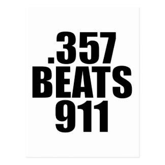 .357 Beats 911 Postcard