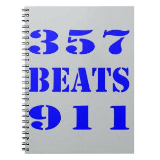 357 BEATS 911 SPIRAL NOTEBOOK