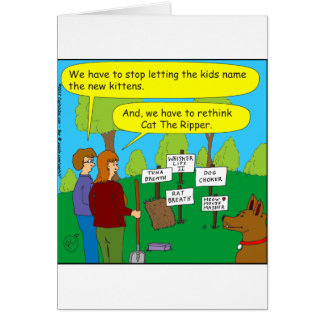 357 Cat the ripper color cartoon Card