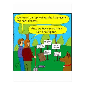 357 Cat the ripper color cartoon Postcard