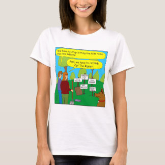 357 Cat the ripper color cartoon T-Shirt