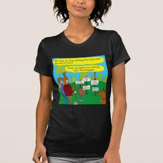 357 Cat the ripper color cartoon Tee Shirt