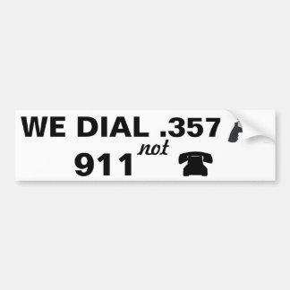 .357 golpe 911 pegatina para auto