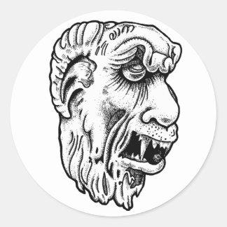 357 Gothic Gargoyle Round Stickers