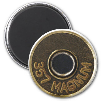 357 Magnum brass shell casing 2 Inch Round Magnet