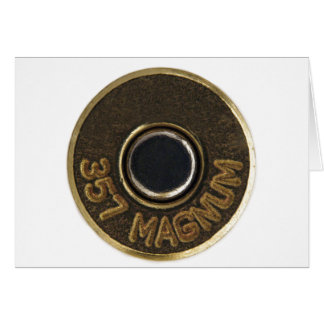 357 Magnum brass shell casing Card