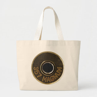 357 Magnum brass shell casing Large Tote Bag