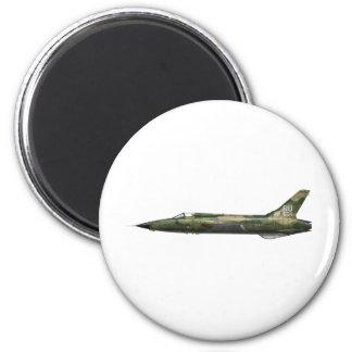 357o F-105 Thunderchief Imán Redondo 5 Cm