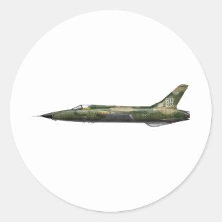 357o F-105 Thunderchief Pegatina Redonda