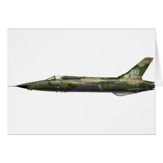 357o F-105 Thunderchief Tarjeta De Felicitación