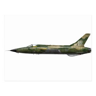 357o F-105 Thunderchief Tarjeta Postal