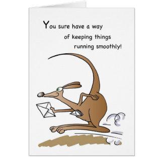 3592 Admin Pro Kangaroo Humorous Greeting Card