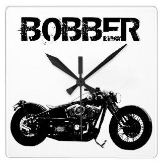 359 Bobber Bike Square Wall Clock