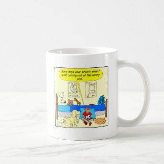 359 Dog friend has bad breath cartoon Coffee Mug