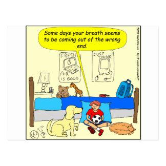 359 Dog friend has bad breath cartoon Postcard