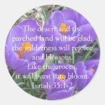 35:1 de Isaías - ~ 2 el azafrán Pegatina Redonda