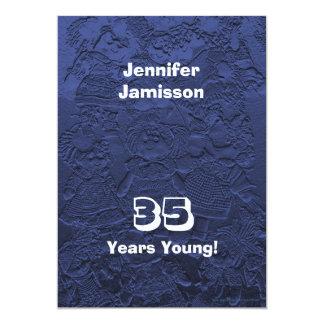35 años de cumpleaños de la fiesta de invitaciones