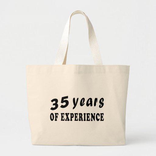 35 años de experiencia bolsa tela grande
