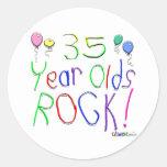 ¡35 años de la roca! etiquetas