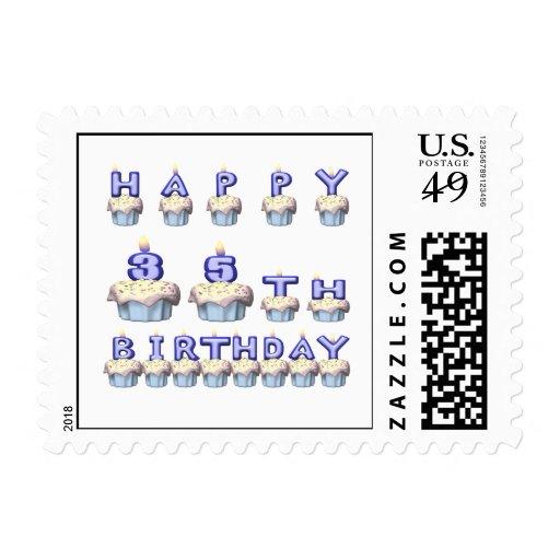 35 años sello postal