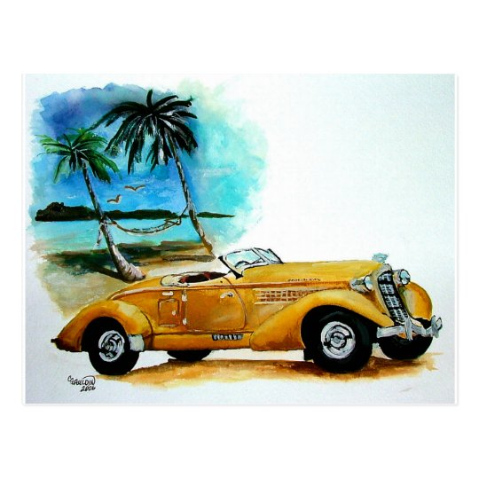 '35 Auburn Classic Postcard