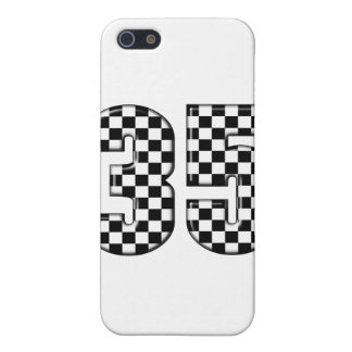 35 auto racing number cover for iPhone SE/5/5s
