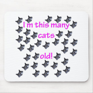 35 cabezas del gato viejas tapete de raton