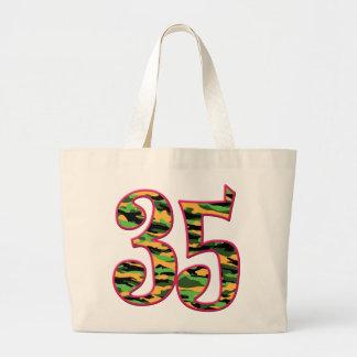 35 edad Camo Bolsa Tela Grande