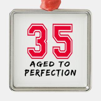 35 envejeció al diseño del cumpleaños de la perfec adornos