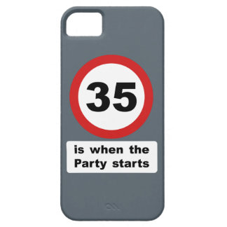 35 es cuando el fiesta comienza iPhone 5 carcasa