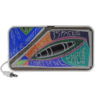35 FACES Note-Bank oF Mars-PosiNegaTivity Portable Speaker