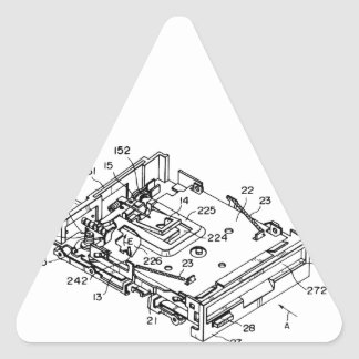 "3'5"" Floppy blueprint Triangle Sticker"