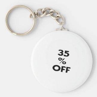 35 Percent Off Keychain