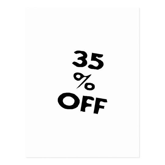 35 Percent Off Postcard