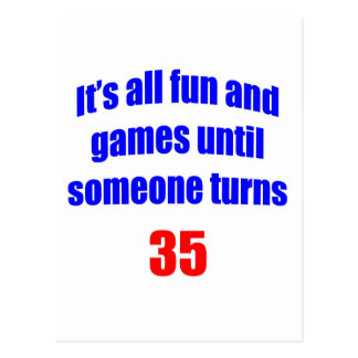 35 Someone turns 35 Postcard