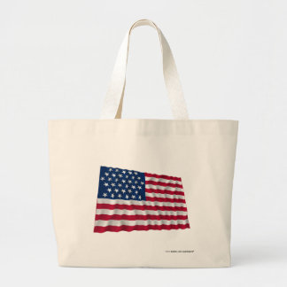 35-star flag, Beehive pattern Canvas Bags
