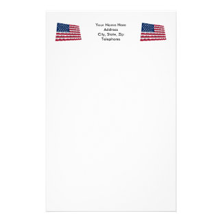 35-star flag, Beehive pattern Stationery