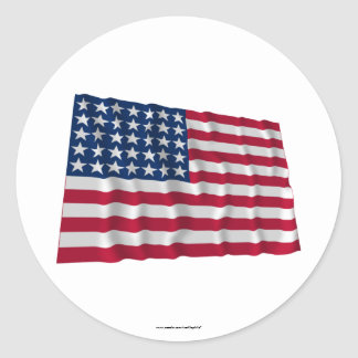 35-star flag classic round sticker