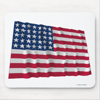 35-star flag mouse pad
