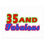 35 y diseños fabulosos del cumpleaños tarjeta postal