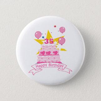 35 Year Old Birthday Cake Button